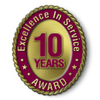 Excellence in Service - 10 Year Award