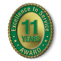 Excellence in Service - 11 Year Award