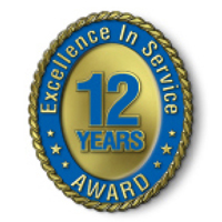 Excellence in Service - 12 Year Award