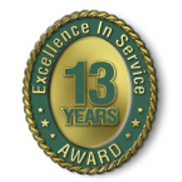 Excellence in Service - 13 Year Award