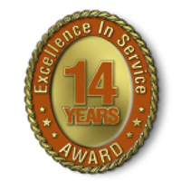 Excellence in Service - 14 Year Award