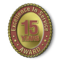 Excellence in Service - 15 Year Award
