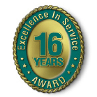 Excellence in Service - 16 Year Award
