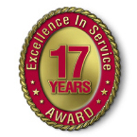 Excellence in Service - 17 Year Award
