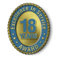 Excellence in Service - 18 Year Award
