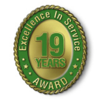 Excellence in Service - 19 Year Award