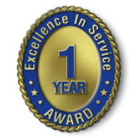 Excellence in Service - 1 Year Award