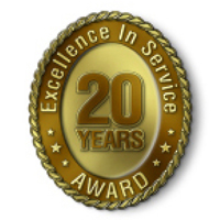 Excellence in Service - 20 Year Award