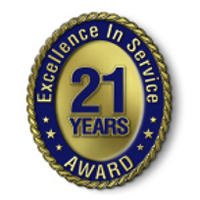 Excellence in Service - 21 Year Award
