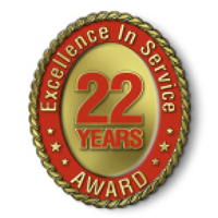Excellence in Service - 22 Year Award