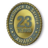 Excellence in Service - 23 Year Award