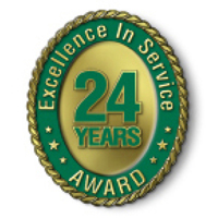 Excellence in Service - 24 Year Award