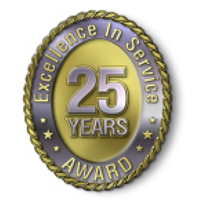 Excellence in Service - 25 Year Award
