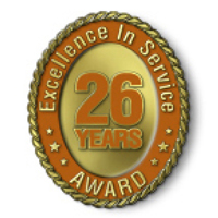 Excellence in Service - 26 Year Award