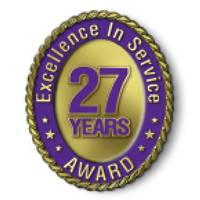 Excellence in Service - 27 Year Award