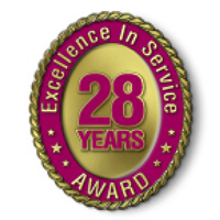 Excellence in Service - 28 Year Award