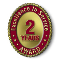 Excellence in Service - 2 Year Award