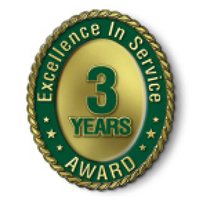 Excellence in Service - 3 Year Award