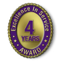 Excellence in Service - 4 Year Award