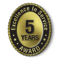 Excellence in Service - 5 Year Award
