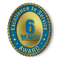 Excellence in Service - 6 Year Award