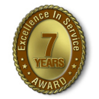 Excellence in Service - 7 Year Award