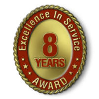 Excellence in Service - 8 Year Award