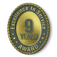Excellence in Service - 9 Year Award