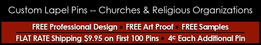 Religious Pins (Custom)