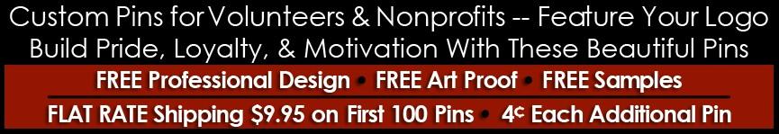 Nonprofit & Volunteer Pins (Custom)